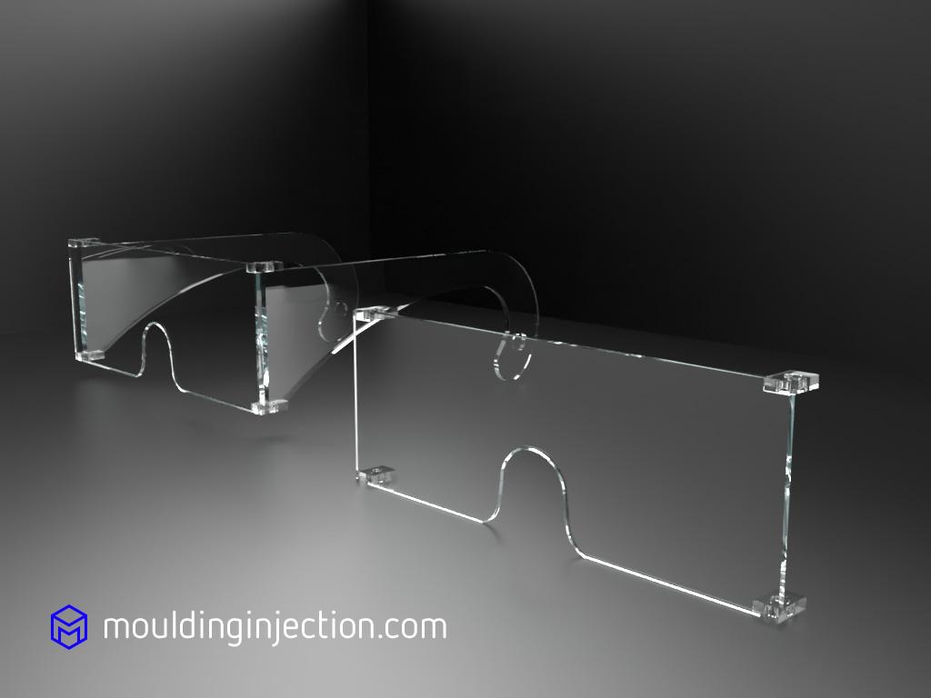 Moules d'injection pour injection de lunettes de protections en Polycarbonate