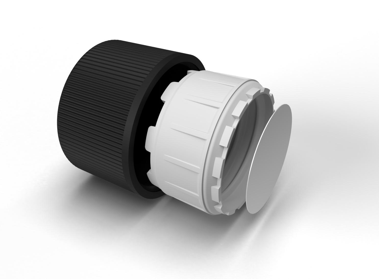 Capsule 20 mm sécurité enfants noir