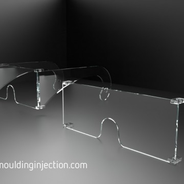 Moules d'injection pour injection de lunettes de protections en Polycarbonate